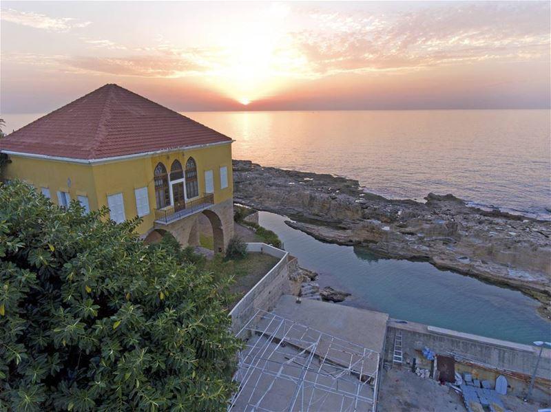 batroun sunset mediterranean sea mediterraneansea batrounbeach ... (Al Mina Batroun)