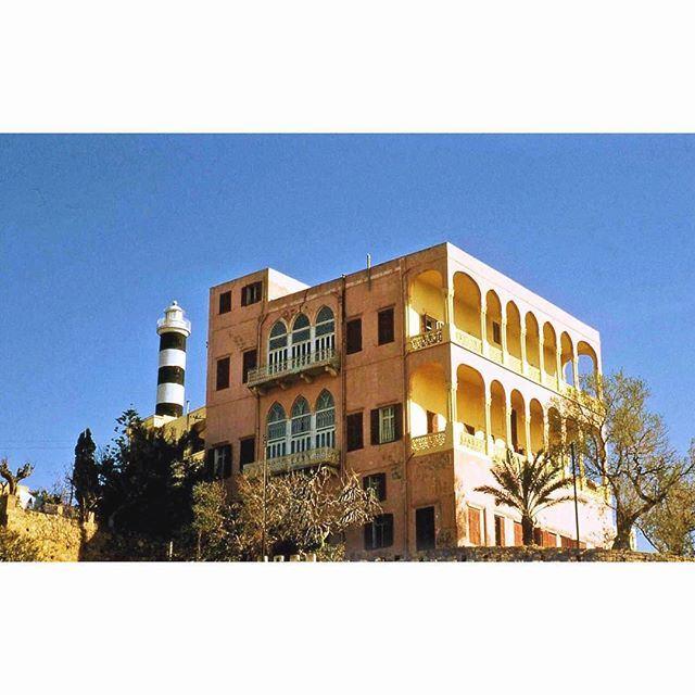 """بيروت البيت الزهر """"المنارة"""" عام ١٩٥٥ ،"""