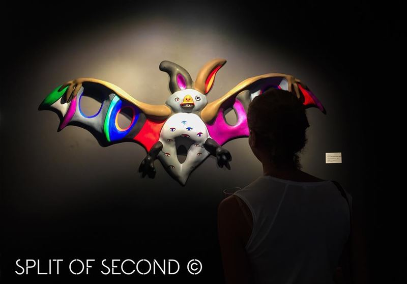 """Chauve Souris"" by Niki de Saint Phalle @operagallery beirut . ....."