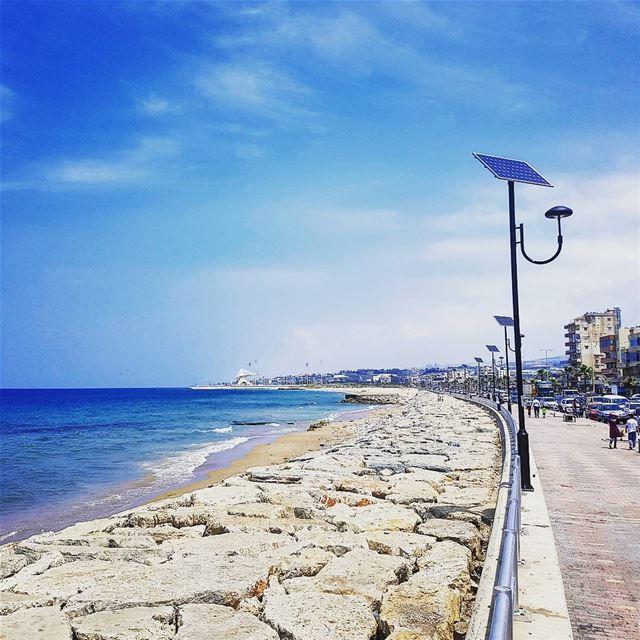 ptk_sky saida sea ptk_lebanon shore lebanonspotlights insta_lebanon... (Saïda, Al Janub, Lebanon)