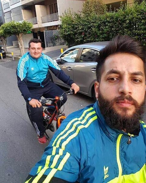 لخلّيك تصير نص كيلو 😂• bike biking bikes beirut lebanon badaro ... (Badaro Street)