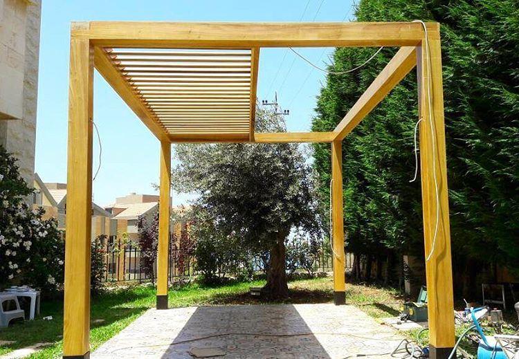 Happening Now in Amchit. PergolaKitsLebanon. Pergola Wood Design ... (Amchit)