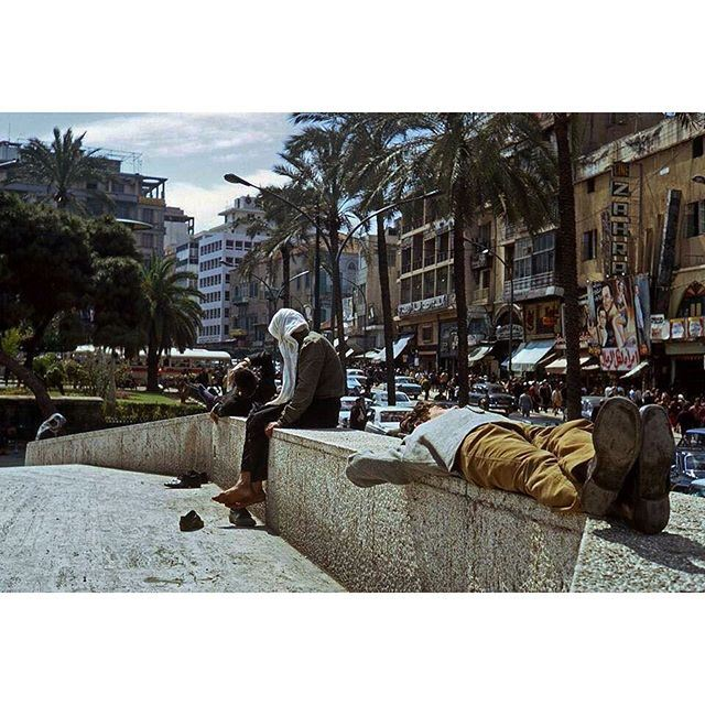 صباح الخير من بيروت ساحة الشهداء عام ١٩٧٢ ،