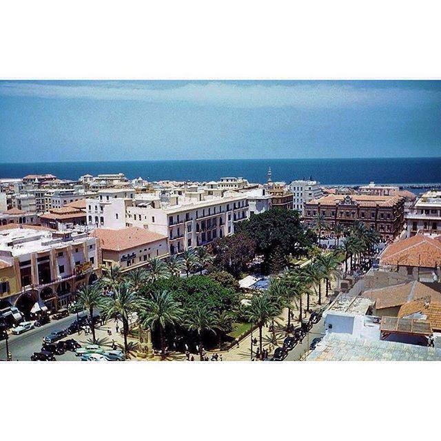 بيروت ساحة البرج عام ١٩٤٨ ،