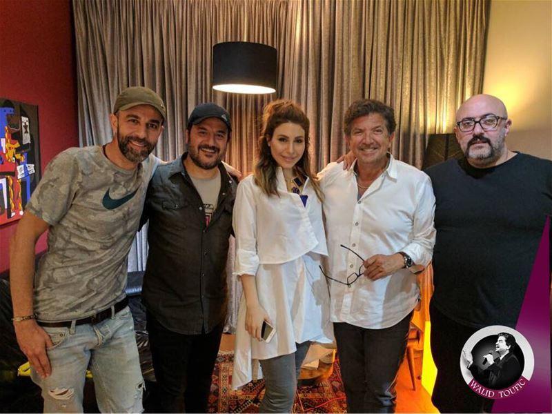 سعدت باللقاء بالصديق طارق ابو جودة و الصديقة يارا، في استوديو الحبيب جان ما (JMR-Studios)