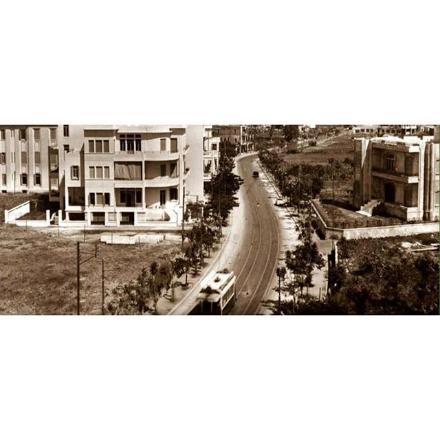 بيروت طريق الشام عام ١٩٣٩ ،