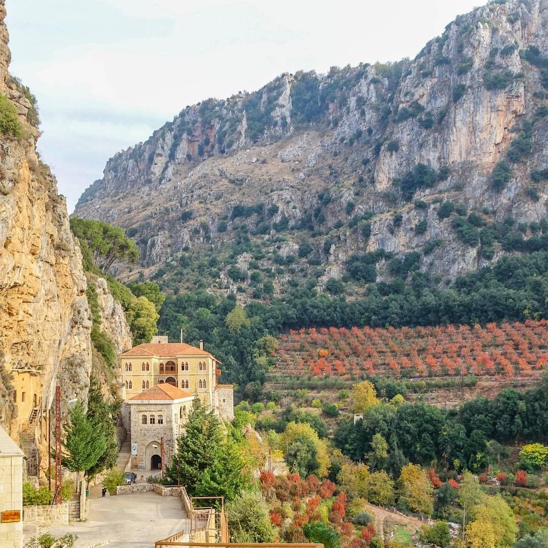 Saint Antonios monastery, in Wadi Qanoubine throwback lebanon tb ... (Mar Antonios)