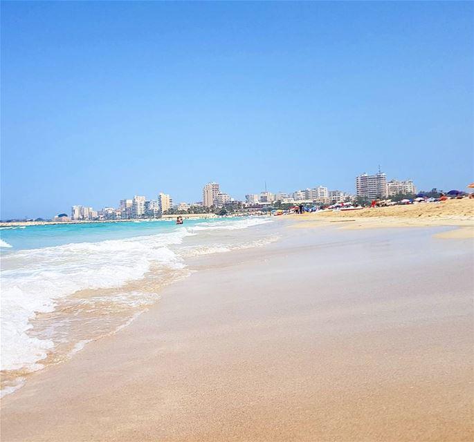 Goodmorning frm tyre❤❤❤ beach whitesand clean summertime swimming ... (Tyre, Lebanon)