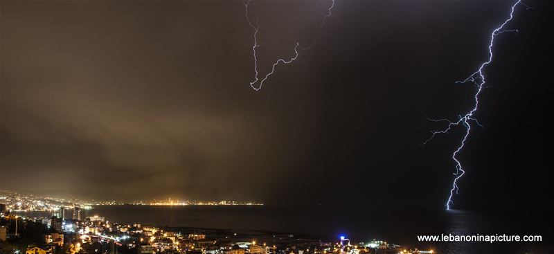 Lightning, Thunder and Rain in May  (Lebanon 2017)