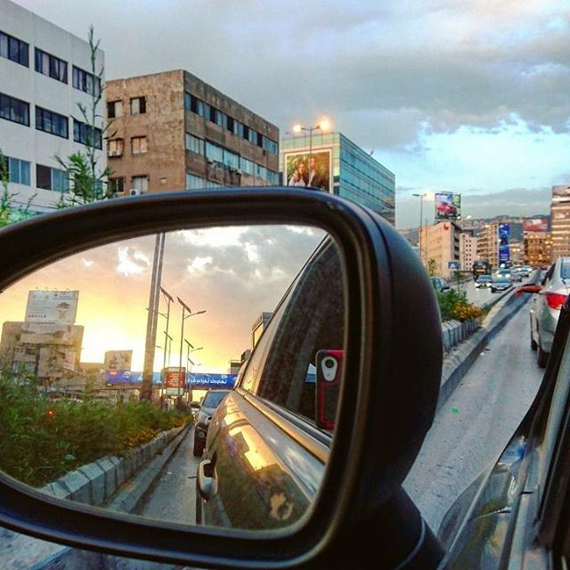 ⚠ Objects are closer than they appear.🔽 lebanon driving traffic ... (Dora, Lebanon)