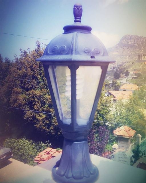 photooftheday  photographylovers  lamp photograph mountains  mothernature... (Jezzîne, Al Janub, Lebanon)