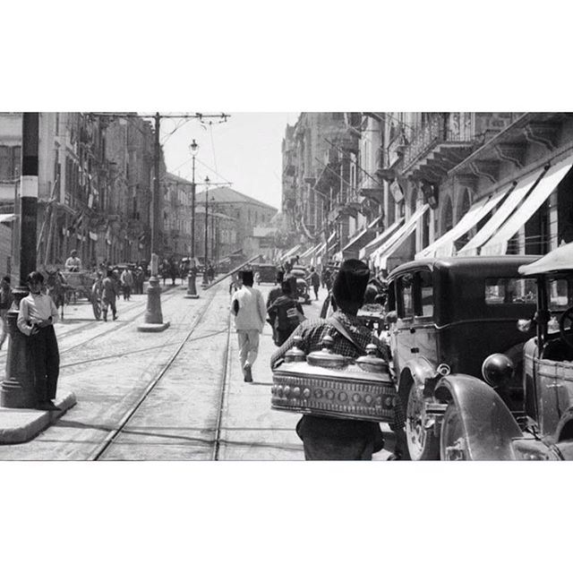 وسط بيروت عام ١٩٢٩ ،