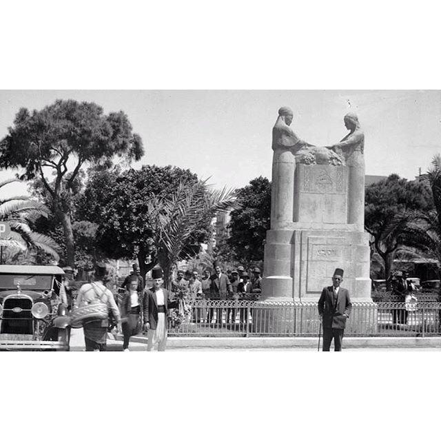 بيروت ساحة الشهداء عام ١٩٣٤ ،