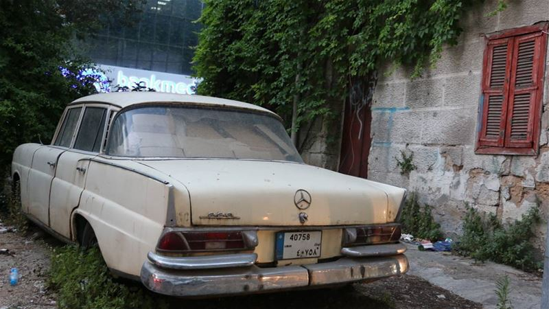 Mr.White is having some rest... mercedes mercedes220 white ... (Tabaris)