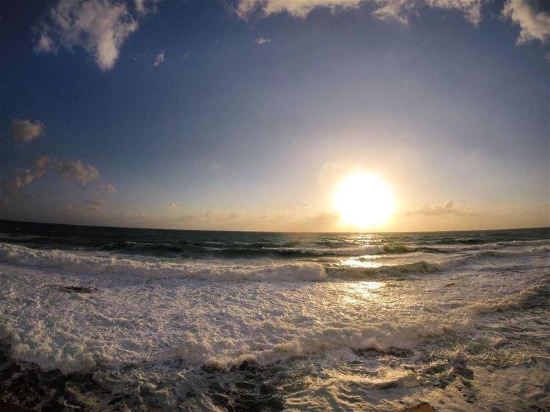 sunset walk 🌞 lebanon_hdr lebanon_hdr jbeil byblos amshit ... (`Amshit, Mont-Liban, Lebanon)