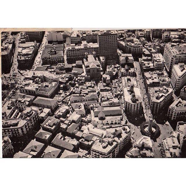 وسط بيروت عام ١٩٥٥ ،
