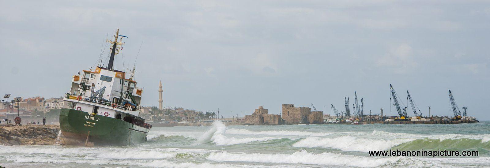 Nabil J is Stuck on Saida Beach Since April 24 - Lebanon in