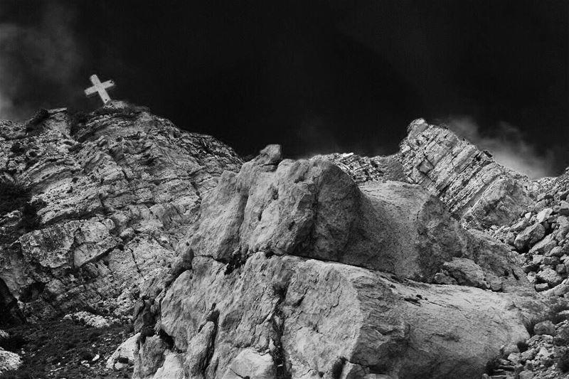 Our peace shall stand as firm as rocky mountains lebanon livelovelebanon... (Akoura, Mont-Liban, Lebanon)