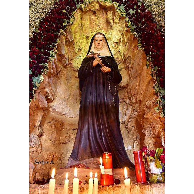 🌹There is nothing impossible with GOD 🌹 saintrita nameday blessed ... (Hardîne, Liban-Nord, Lebanon)