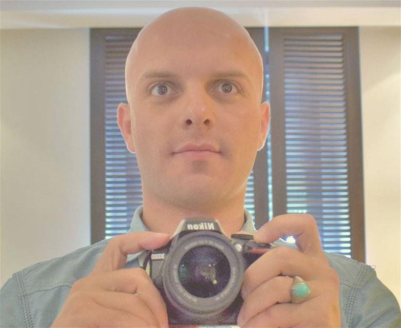 selfie selfportrait Me I Myself Baldman Lebanese man ...