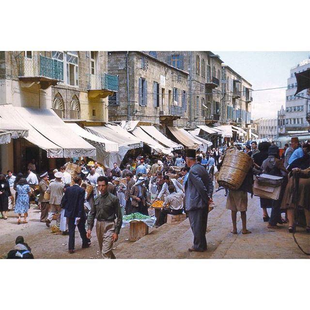 سوق النورية وسط بيروت عام ١٩٦٨ ،