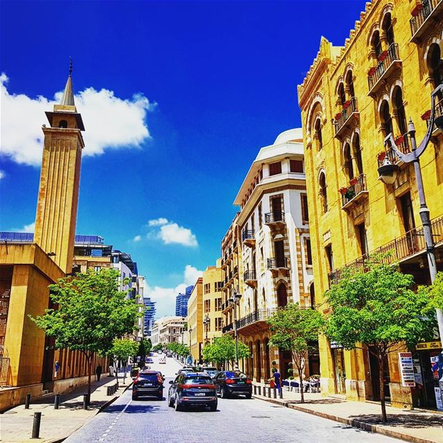 When it rains, it pours.. but soon, the sun shines again.... (Downtown Beirut)