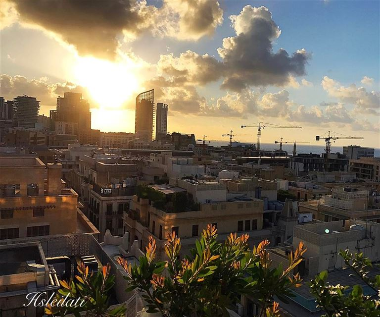 Sunsets are proof that endings can be beautiful too❤️ ptk_lebanon ... (Iris Beirut)