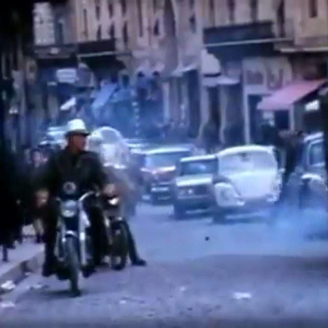 شارع ويغان والترمواي بيروت عام ١٩٦٥ ،