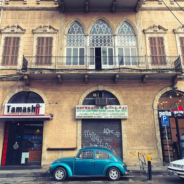 Almost solo parking because it's Sunday 💙😌 theweekoninstagram ... (Beirut, Lebanon)