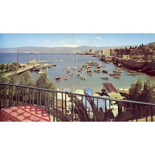 لبنان بيروت الزيتونة صورة من فندق السان جورج عام ١٩٦١ ،