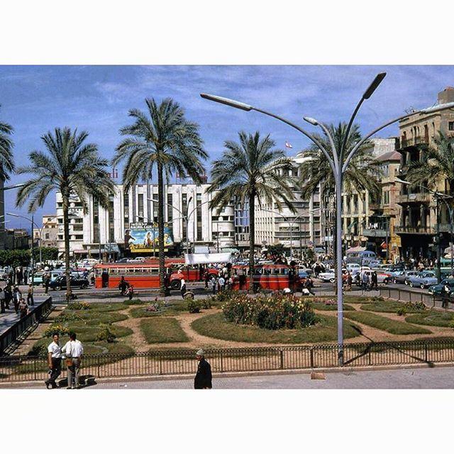 بيروت ساحة الشهداء عام ١٩٦٦ ،