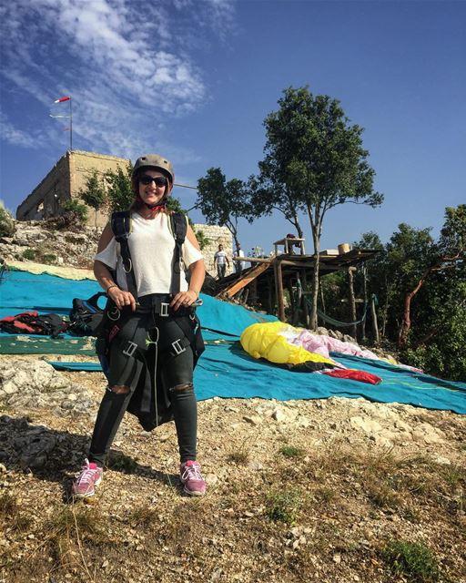 Readyyyy 😍 adventure hobby paragliding lebanon sport fun love ... (Ghosta, Mont-Liban, Lebanon)