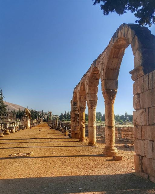 The entrance of Anjar castle .it was built in the 8th century by the... (Anjar_Anjar Castle)