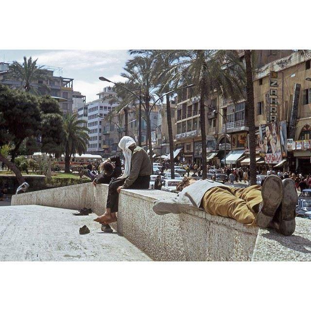 بيروت ساحة الشهداء عام ١٩٧١ ،
