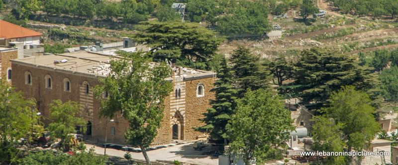 The Old Saint Georges Church Inside Ehden