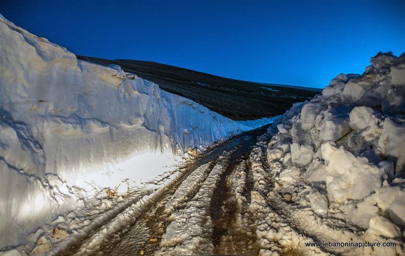 Snowy Road in May (Jabal El Adib, North Lebanon)