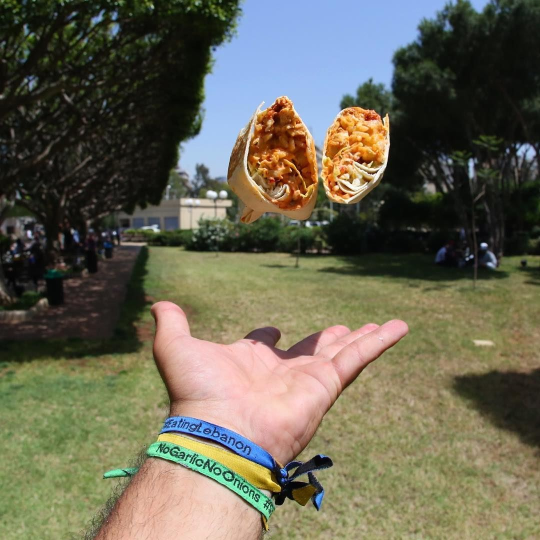 The flying tacomambo !!! 🌯• lebanon beirut foodie foodporn ... (Souk el Akel)