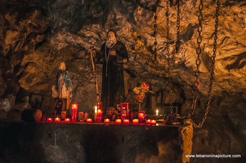 Saint Antonios Qozhaya's Cave (Wadi Qannoubine, North Lebanon)