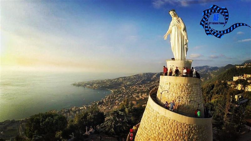 While she holds you hand , You cannot FALL !   blomshabeb  mothermary ... (Our Lady of Lebanon)