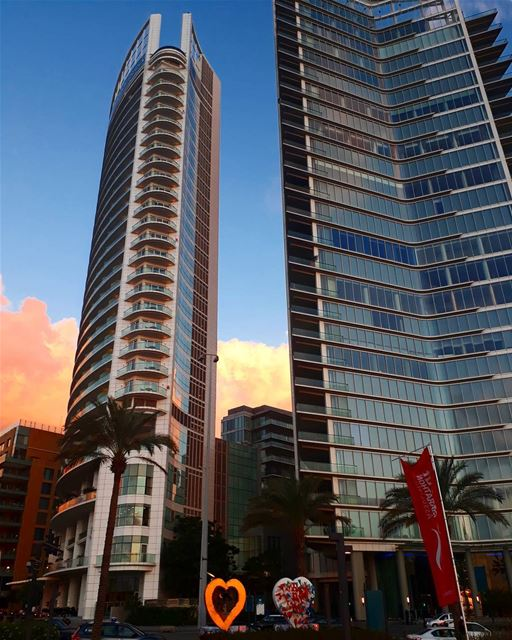beirut downtown 4seasonshotel zaytounabay buildings clouds sunset ... (Four Seasons Hotel Beirut)