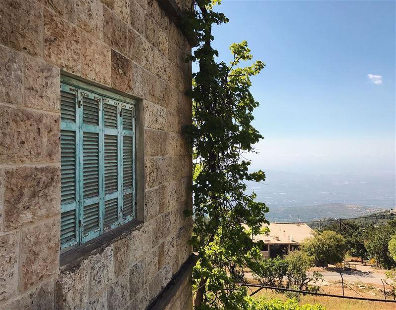 INSIDE OUT! wheremyshoeslead. Windows Abajour CutInhalf Old Blue ... (Aïtou, Liban-Nord, Lebanon)