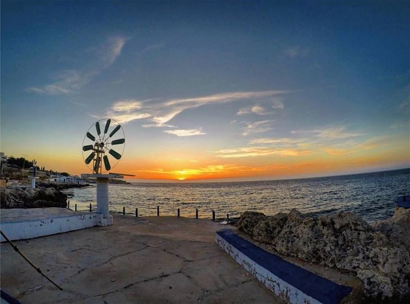 Amazing view from anfehPhoto by @eliasksaadeh Share the beauty of ... (Ta7t El Ri7 - Anfeh)