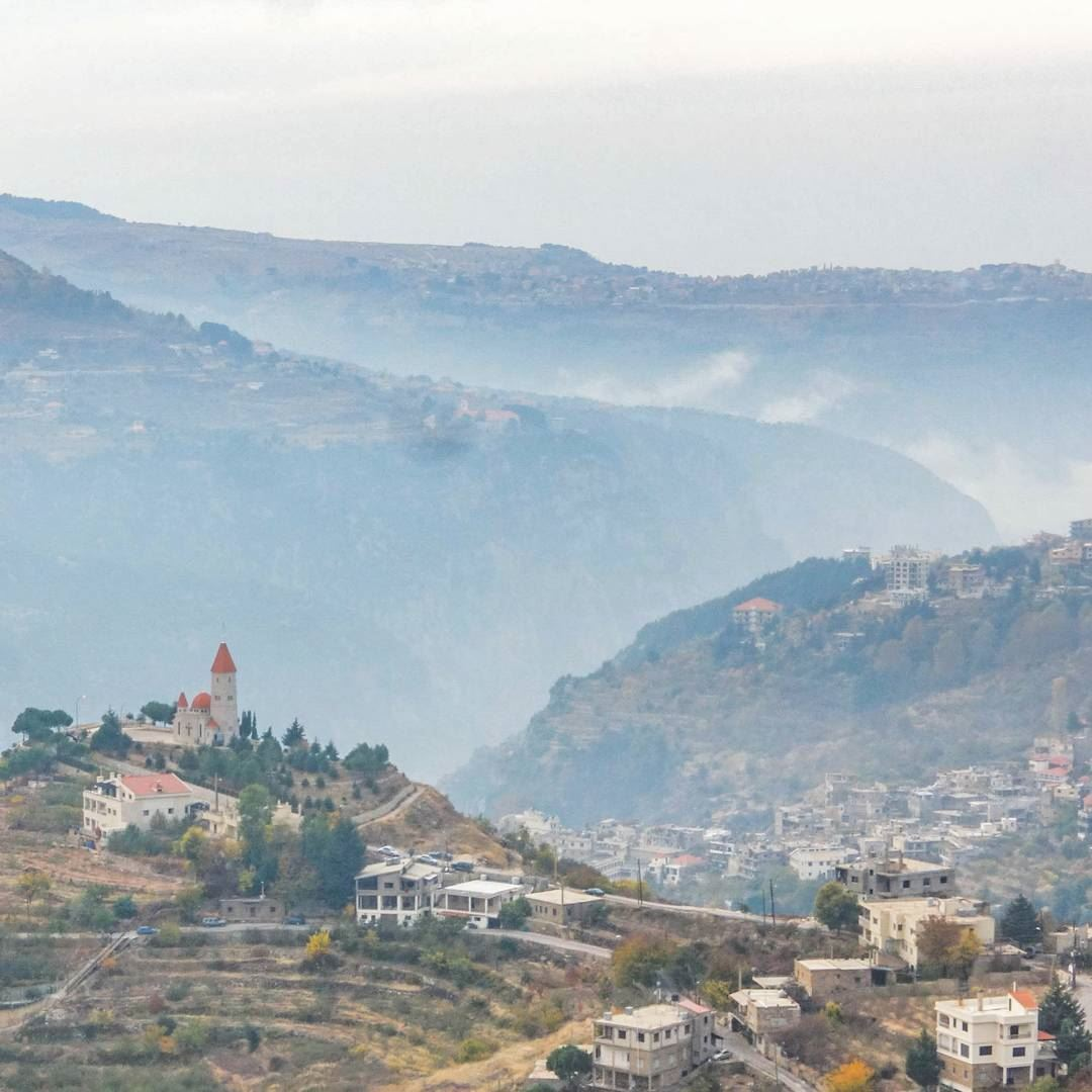 High up, above the clouds, somewhere in Mount Lebanon.. throwback ... (Mount Lebanon Governorate)