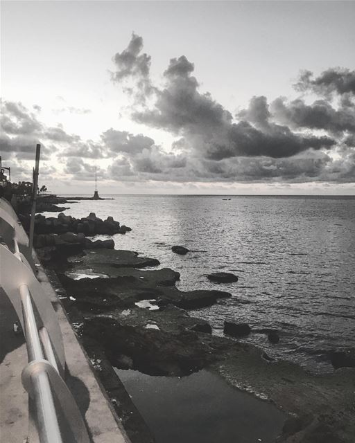 beirut beirutlife beach sunset sunsets sunset_pics aftertherain photo... (Corniche Ain El Mrayseh)