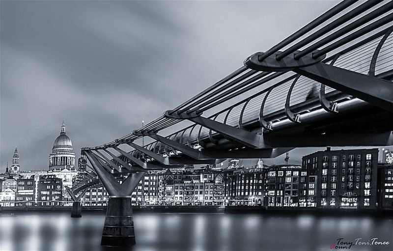 """What I like about black and white photographs is that they are more like... (Millennium Bridge, London)"