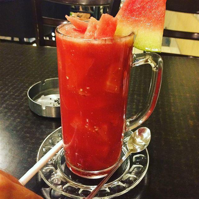 Yammi 🍉🍉 watermelon juice lebanon🇱🇧 byblos beirut tasty nice ... (Byblos - Jbeil)