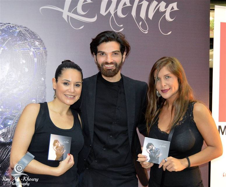 @alinelahoud & @sevinemusic at @mikemassy album signing... (Virgin Megastore Lebanon)