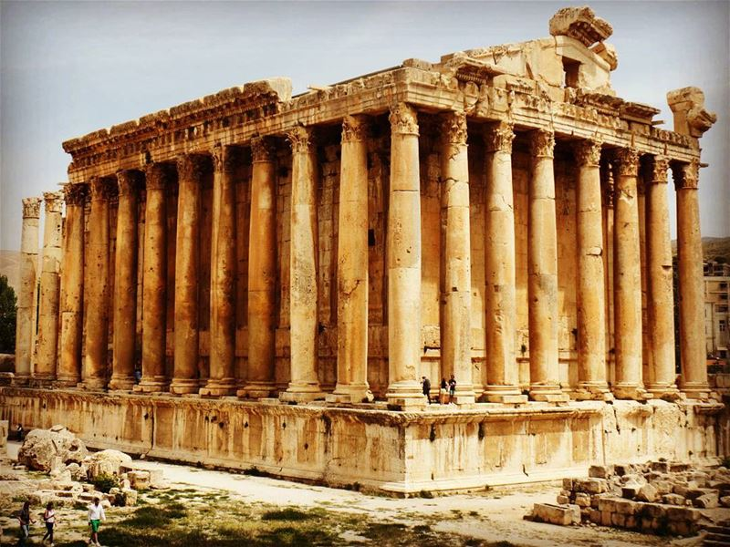 🌞 The city of the Sun 🌞 baalbek  heliopolis  templeofbacchus  ruins ... (Temple of Bacchus)