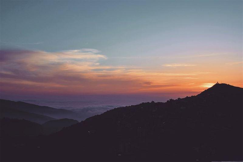 Best part of the day. Sunset Ehden Lebanon LiveLoveEhden.......... (MIST Hotel & Spa By Warwick)