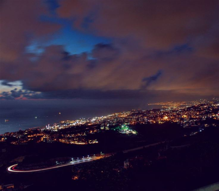 When the day takes a deep breath ..that is the night 🌃✨... . lebanon ...